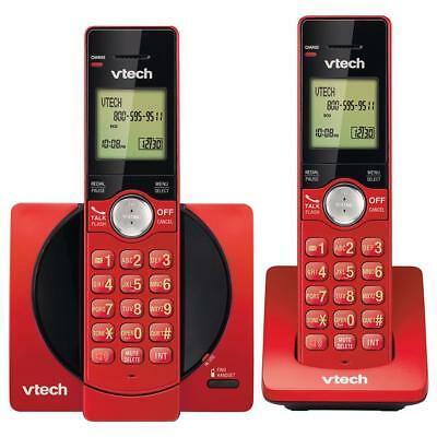 VTech CS6919-26 DECT 6.0 Cordless Phone with 2 Full Duplex Handsets - Red