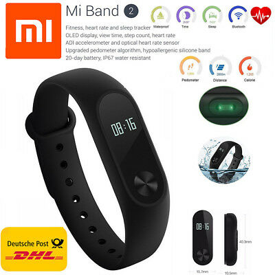 🌟NEU Original Xiaomi Mi Band 2 Fitness tracker / Fitnessarmband / Smart Watch