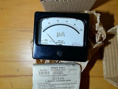 Tube tester Ammeter M1690A microamper meter.  Vibration-resistant, shaking
