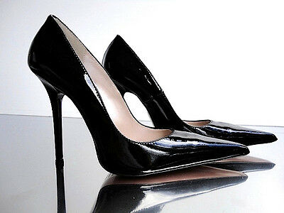 28e8838e7c1 CQ COUTURE ITALY Heels Pointy Hot Pumps Schuhe Court Shoes Leather ...