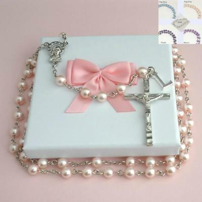 Personalised Rosary Beads Made with Any Letter / Initial, Rosaries for Girls