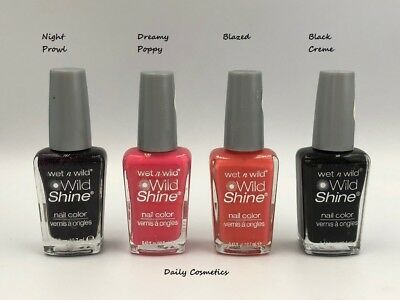 Wet N Wild Wild Shine Nail Polish 15 Shades