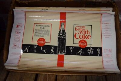 Retail Case Vintage Plasticoat Coca Cola Coke Book Covers 450+ 1960's NOS Colad