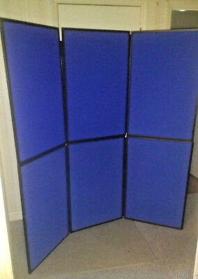 USED NOBO Showboard 6 Panel Folding Trade Show Backdrop Booth Exhibit Display