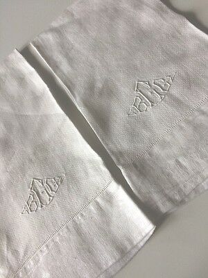 Antique Linen Towels Whites Bridal Cake Table Vintage Initials Monogram BGG C?