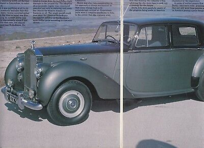 10 LOT ROLLS-ROYCE Automobiles, Mostly Post-WWII,Multiple-Page Magazine Articles