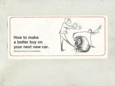 1970 Volkswagen US Features Compared to Other Cars Small Mailer Brochure wz0946