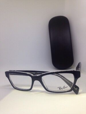 1679d054978 Authentic Ray Ban RB 5280 2034 Black Clear 51mm Frames Eyeglasses New