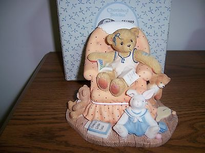 "Cherished Teddies Sheila ""Sometimes You Just Need A Little Peace & Quiet"" MIB"