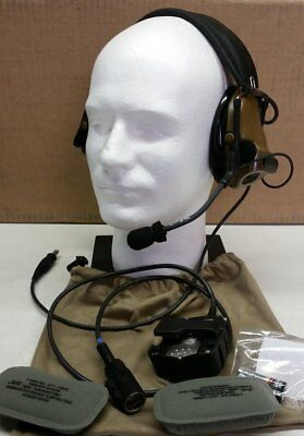 3M Peltor COMTAC ACH Coyote Brown Kit Headset With PTT New - DEVGRU Airsoft Crye