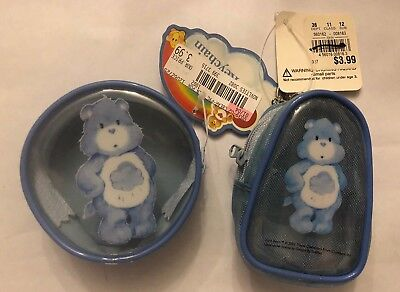 NEW Care Bears Grumpy Bear Coin Case & Mini Backpack Keychain
