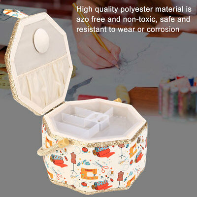 Household Needles Threads Basket Sewing Tools Storage Box Organizer with Handle