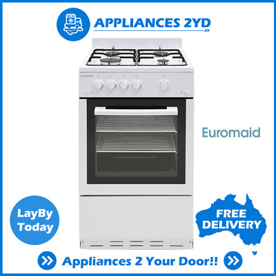 Tiny Home Euromaid GGFW50NG 50cm Natural Gas Stove Cooker Oven Grill Cooktop 60L