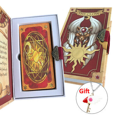 Anime 56 Pieces Cardcaptor Set  Sakura Clow Cards With Gold Clow Book with Gift