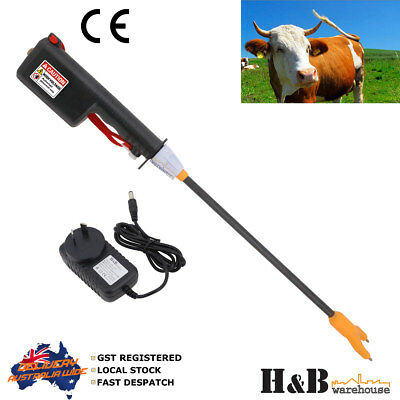 81cm 9KV Rechargeable Cattle Prod Stock Prodder Rigid Fibreglass Shaft Wand