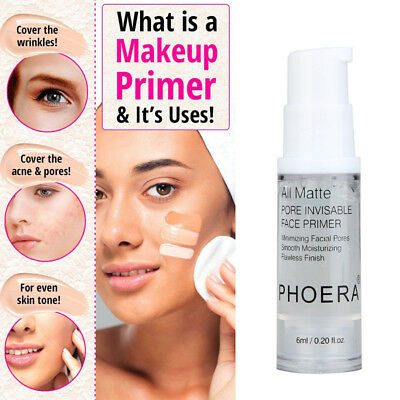 1PC PHOERA Isolated Moisturizing Makeup Base Face Makeup Primer  6ml Clear
