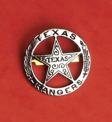 Metall Stern TEXASRANGER 4cm Western Cowboy Badges Old West Accessoires