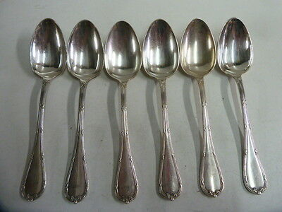 CHRISTOFLE RIBBONS CROSSED 6 SPOONS TABLE t: 21.50cm - condition bright