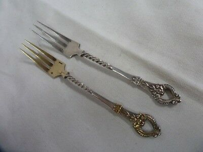 CHRISTOFLE 19th HORN OF ABUNDANCE 2 FORKS A CANDIED FRUIT - mint