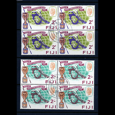 FIJI. 1966 World Cup. SG 349-350. Fine Used Block of Four. (AB498)