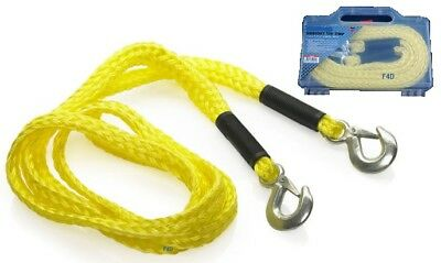 Heavy Duty 4M Tow Rope 2000kg 2T TONNE Emergency Recovery Towing Car Van In Case