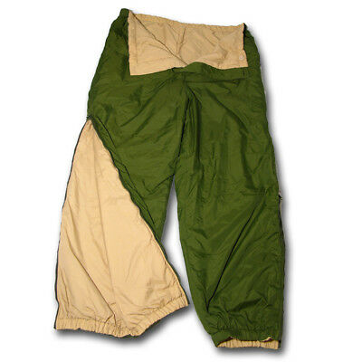 British Army Issue Reversible Thermal Softie Trousers Olive Green Sand Desert