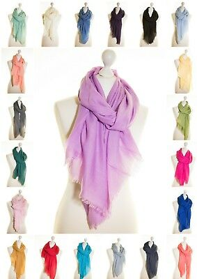 Plain Sheer Scarf Scarves Lightweight Soft Quality Viscose Polyester Shawl Wrap