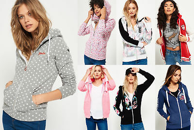 New Womens Superdry Hoodies Selection - Various Styles & Colours 0703 2