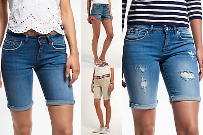 New Womens Superdry Shorts Selection - Various Styles & Colours 0703 2
