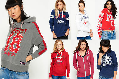 New Womens Superdry Hoodies Selection - Various Styles & Colours 0703 1