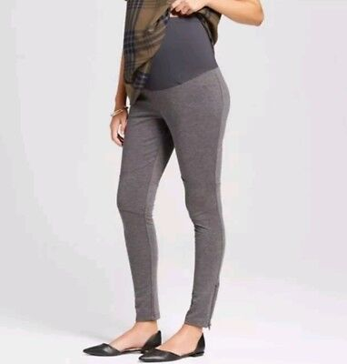 New Womens Maternity Over Belly Gray Liz Lange Ponte Pants Size XL