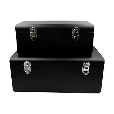 Retro Vintage Trunks Metal Boxes Toy Storage Table Chests Industrial Iron