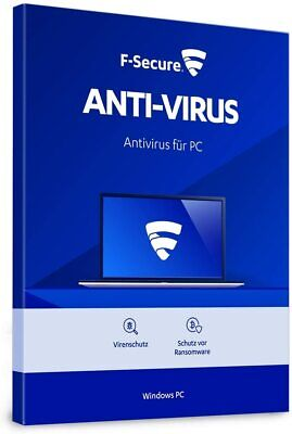 F-Secure Anti-Virus 2019 1 PC 2018 VOLLVERSION 1 - PC Antivirus 2018 DE EU