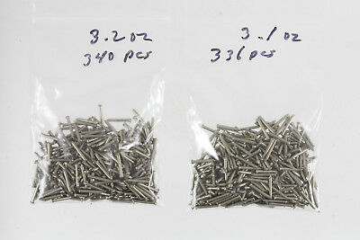 "Packet of 300+ 1/2"" Long by 16 Ga.Nickel-Silver Escutcheon Pins. OLD STOCK . NOS"