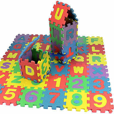 36 pcs Baby Kids Alphanumeric Educational Puzzle Blocks Infant Child Toy Gift QY