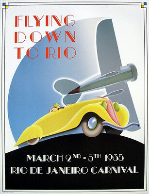 Flying Down To Rio Art Deco Poster Picture Print A1
