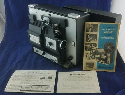 Bell & Howell 471 A Super 8/ Standard 8mm Slow Motion Movie Projector ~Serviced~