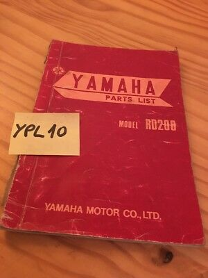 Yamaha parts list RD200 RD 200 catalogue pièce détachée first edition 1973 rare