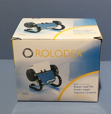 NEW ~ ROLODEX Black Rotary Card File, A-Z Index Tabs + 250 Plain Cards 66700