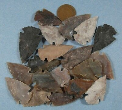 Arrowhead Spearhead Lot Collection & Old Vintage 1891 Indianhead Cent