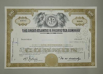 """The Great Atlantic & Pacific Tea Company"" 100 Shares 1971 - common stock Aktie"
