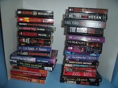 Lot Of 29 Horror*brian Lumley*clive Barker*scott Smith*others*sacrament*the Ruin