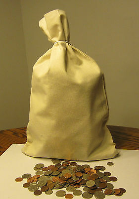 """20 Canvas Coin Bags  Money Sack  12"""" By 19"""" Deposit Change Bags Bank Transit"""