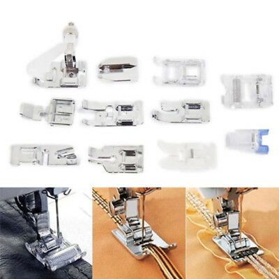 Rolled Set 11pcs Multifunctional Machine Foot Feet Presser Sewing Part Domestic