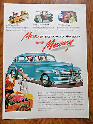1946 Mercury 8 Coupe Ad   More of Everything Flower Wagon Theme