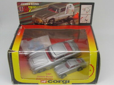 CORGI 1361 007 JAMES BOND ASTON MARTIN D.B.5  AND JUNIOR TWIN PACK w SEALED BAG
