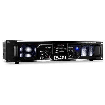 Amplificatore Finale Disco 5600W Dj Karaoke Audio Hi Fi Stereo Usb Sd Mp3 Aux Eq
