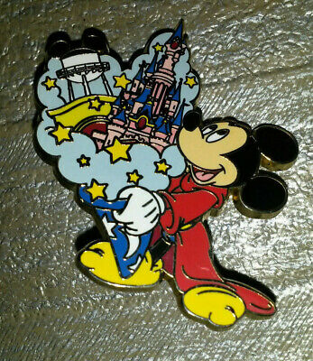 Mickey Sorcerer Fantasia 2 Parks Out of his Hat Disney L Paris Dlrp Dlp 2009 Pin