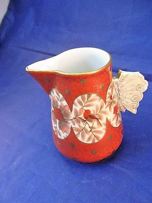 Vintage Austrian Porcelain Creamer with Butterfly Wings Handle - Rare