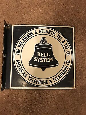 Delaware & Atlantic Telephone Co. Porcelain Sign
